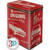 Rausverkauf! Vorratsdose aus Blech Größe L VW Golf - The Original Ride