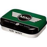 Rausverkauf! Pillendose aus Blech Mini mit zuckerfreien Pfefferminzpastillen