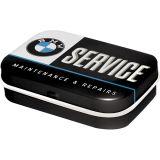 Rausverkauf! Pillendose aus Blech BMW Service mit zuckerfreien Pfefferminzpastillen